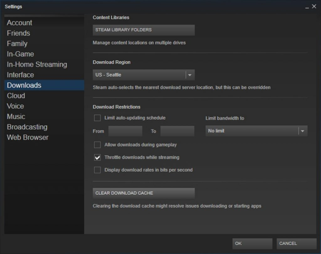 Disable Steam Updates to Optimize Windows 10 for Gaming